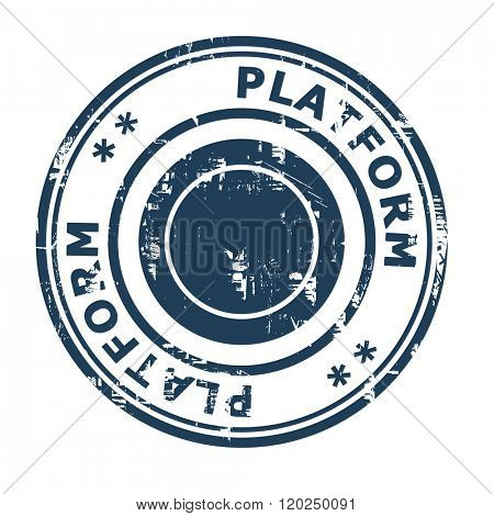 Platform business concept stamp isolated on a white background.