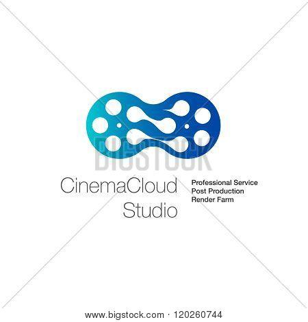 Logo for cinema cloud studio computing