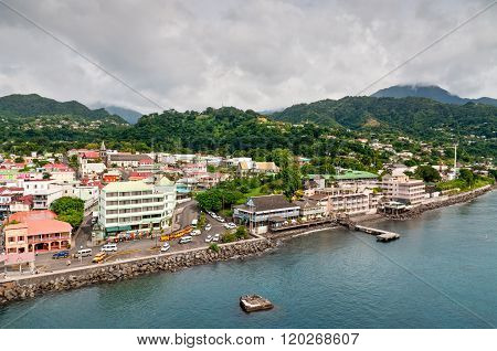 View Of Roseu On A Cloudy Day, Dominica