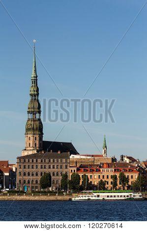Riga, old town and river Daugava