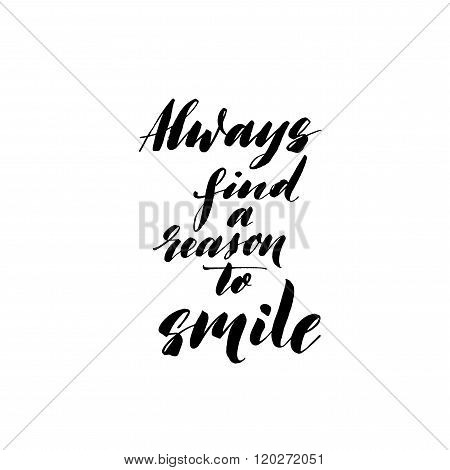 Always Find A Reason To Smile Card.