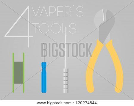 4 Vaper Tools Set