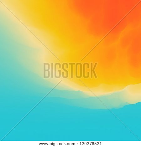 Water Wave. Water Surface. Nature background. Modern pattern. Vector Illustration For Your Design. Flowing Background With Halftone.