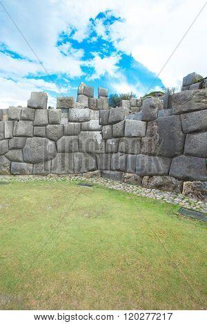 Sacsayhuaman : Inca archaeological site in Cusco, Peru