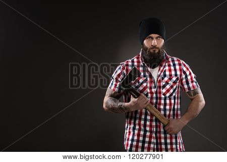 Bearded Man Like Woodcutter