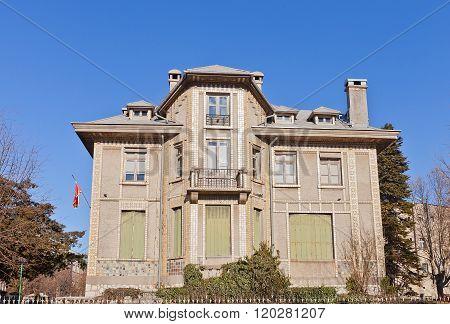 Former French Embassy (1909) In Cetinje, Montenegro