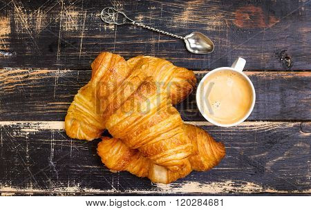 Croissants, Flour, Eggs, Spoon, Rolling Pin