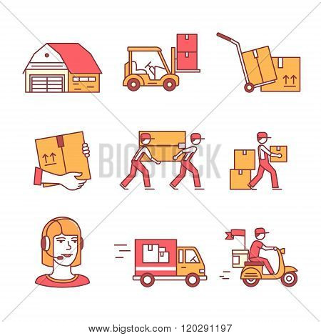 Warehouse, services and delivery transportation
