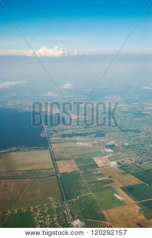 Aerial View From Plane