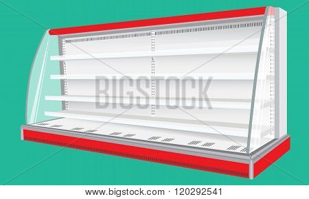 Cooled Regal Rack Refrigerator Wall Cabinet Blank Empty Showcase Displays