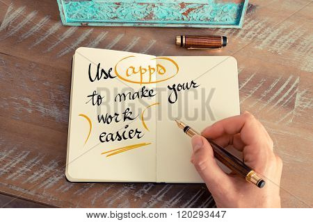 Handwritten Text Use Apps To Make Your Work Easier