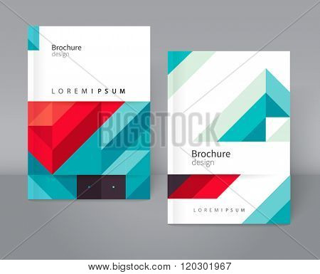 Geometric Absract background. blue and red diagonal lines. Brochure, flyer, poster, template. Cover design. vector-stock  illustration EPS 10