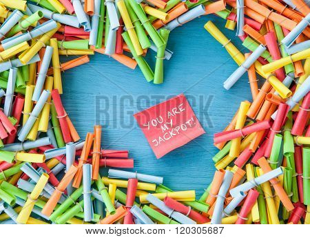Colorful Ruffle Tickets