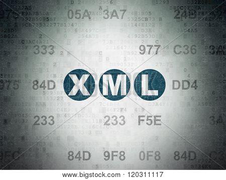 Programming concept: Xml on Digital Paper background