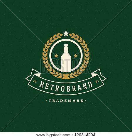Beer Logo Template. Vector Design Element Vintage Style for Logotype, Label, Badge, Emblem