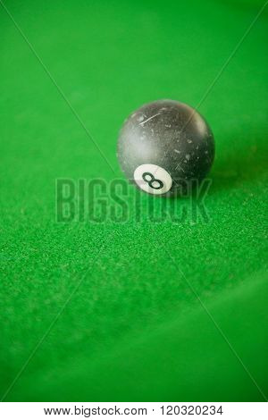 Billard balls on green billard table stock picture