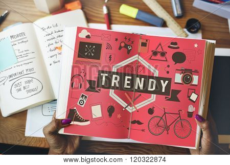 Trend Trendy Design Modern Style Fashion Latest Concept poster