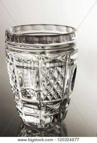 A Chrystal glass of vodka