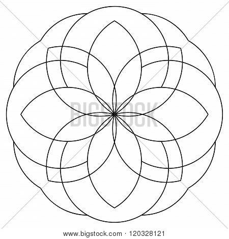 Mandala As Coloring Page