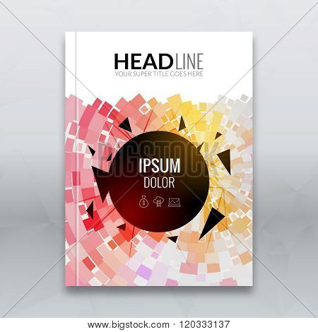 Cover report colorful geometric prospectus flyer design background, cover flyer template, magazine,
