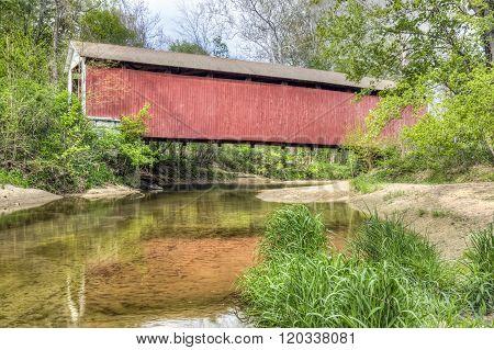 Melcher Covered Bridge Reflection