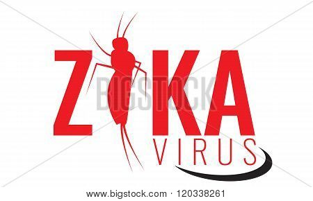 Vector Zika virus logo, symbol or sign. Aedes Aegypti mosquitoes.