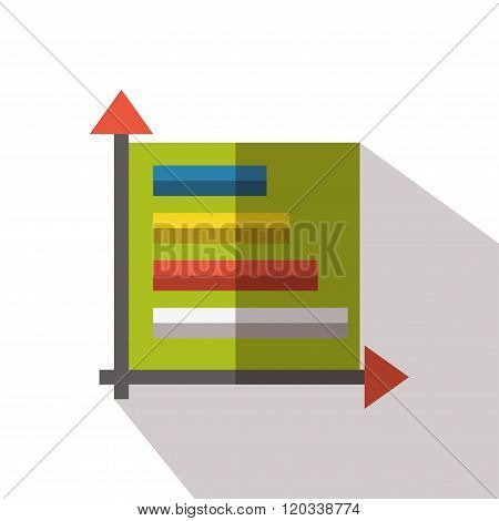Chart icon flat vector isolated graph report