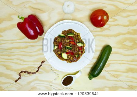 Decomposed Vegetable Chili