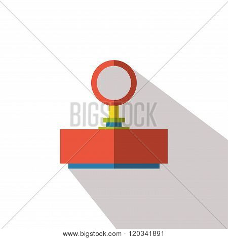 Rubber stamp icon vector flat isolated long shadow