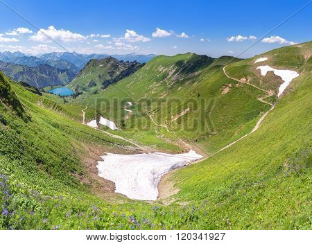 Snow remains in the Allgau Alps