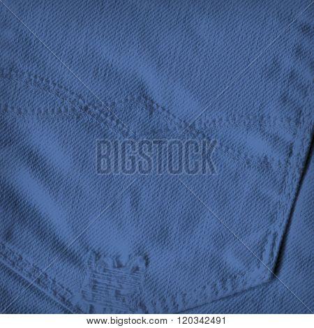 Pocket of blue jeans
