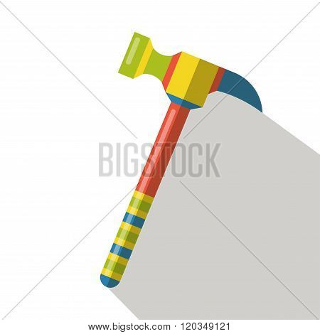 Construction hammers icon vector flat isolated cartoon