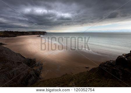 Stormy Three Cliffs Bay