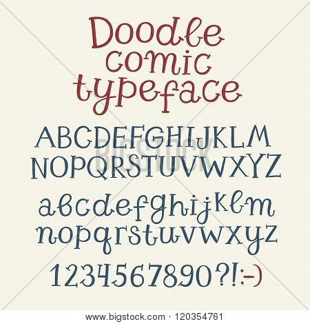 Hand Drawn Playful Vector Font