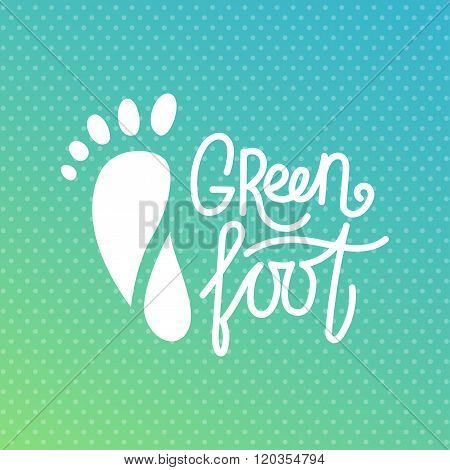 Green Foot. Health Center Logo, Orthopedic Eco Salon.