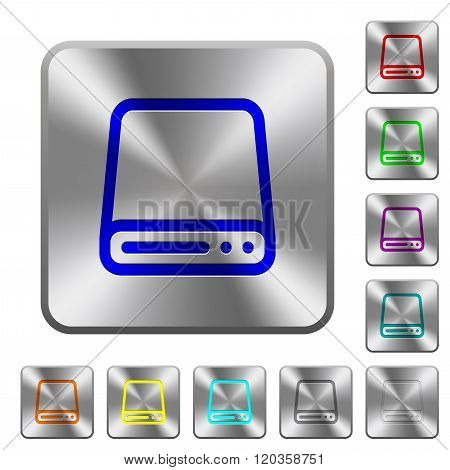 Steel Hard Disk Drive Buttons