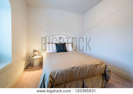 Children's boys bright bedroom playroom. Interior design.