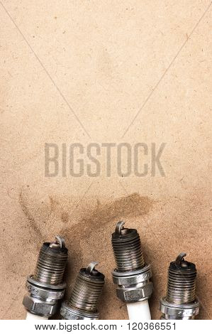 old spark plugs, used spark plugs with soot poster
