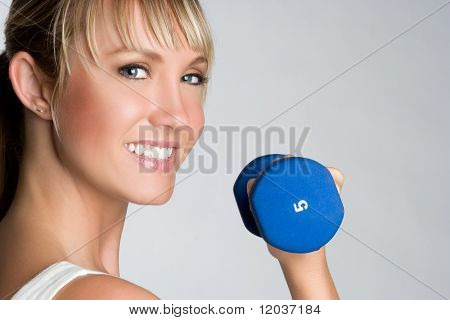 Smiling Woman Exercising