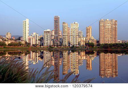 Navi Mumbai, India - 6 December 2015: Navi Mumbai is planned suburb built across sea on main land to reduce Mumbai congestion.