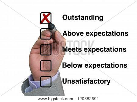Businessman Fills Out Performance Rating
