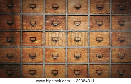 Apothecary Wood Chest With Drawers