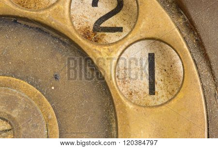 Close Up Of Vintage Phone Dial - 1