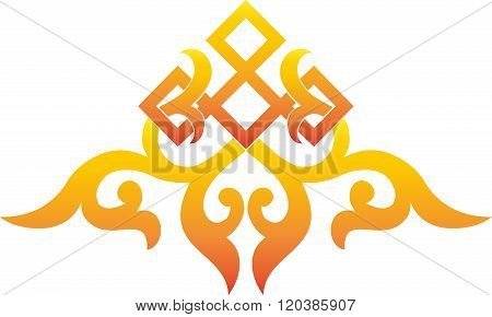 asian traditional pattern, oriental chinese ornament, orange,cut  element,