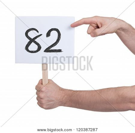 Sign With A Number, 82
