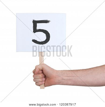Sign With A Number, 5