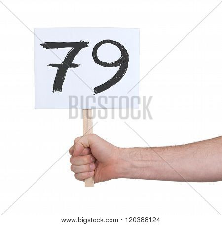 Sign With A Number, 79