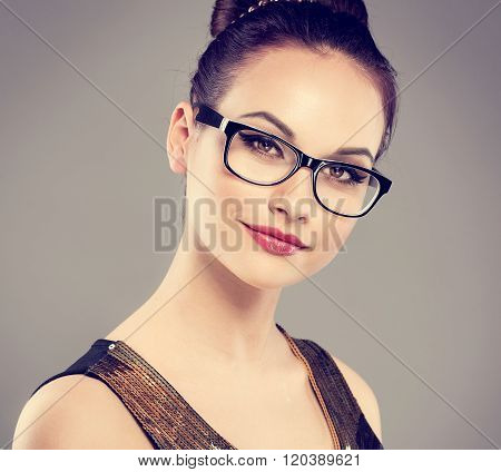 Retro woman in eyeglasses