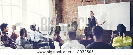 Speaker Seminar Corporate Business Meeting Concept