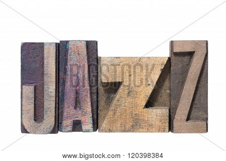 Jazz Word Wooden